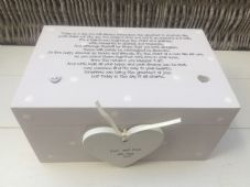 Shabby Personalised Chic Wedding Present Bride Groom EXTRA LARGE Gift Memory Box - 332098304107